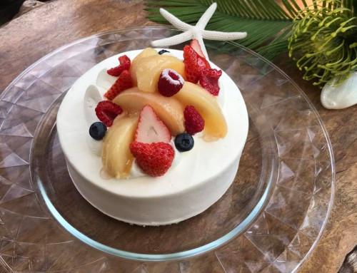 桃といちごのショートケーキ